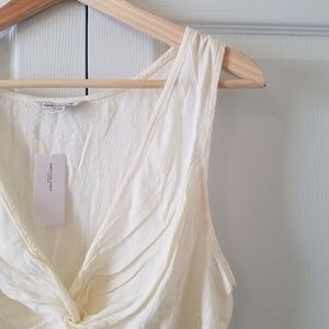 American Eagle Outfitters Tops - AEO White Knotted Tank Top